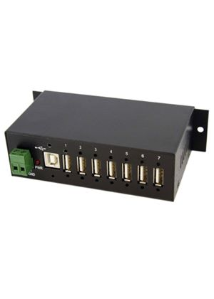 StarTech Mountable Rugged Industrial 7 Port USB Hub