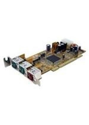 StarTech 2 Port 12V 1 Port 24V Dual Profile PCI Powered USB Card