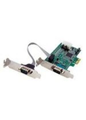 StarTech 2 Port Low Profile Native RS232 PCI Express Serial Card with 16550 UART