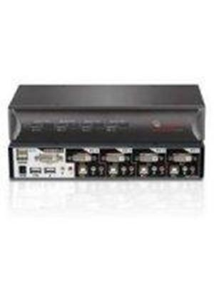 Bundle: Avocent SwitchView 4SVDVI15 DVI Desktop KVM Switch with 4 Ports and Cables Included