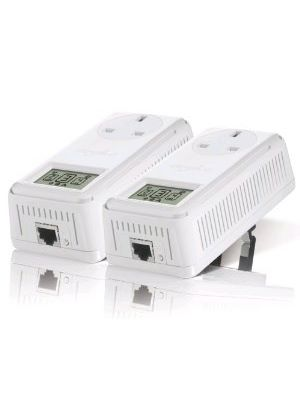 Devolo dLAN 200 AVsmart+ Starter Kit Pass-thru Filter and LCD (2x Plug)
