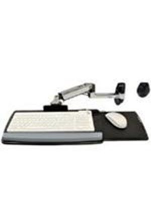 Ergotron LX Wall Mount Keyboard Arm (Polished Aluminum)
