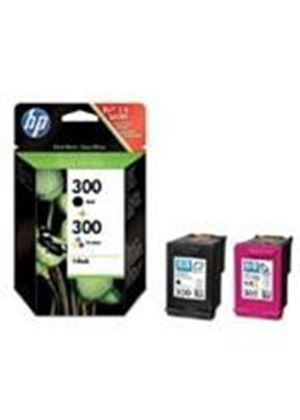 HP 300 Ink Cartridge Combo 2 Pack containing 1 x HP No.300 Black (Yield 200 pages) Ink Cartridge with Vivera Ink + 1 x HP No.300 Tri-Colour (Yield 165 pages) Ink Cartridge