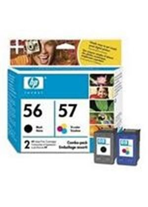 HP No.56 (Black) 19ml + No.57 (Tri-Colour) 17ml Twin Pack