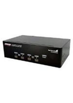 StarTech 4 Port Dual DVI USB KVM Switch with Audio & USB 2.0 Hub