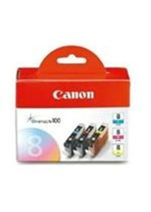 Canon CLI-8CMY 3-Colour Ink Cartridge Multipack (Cyan/Magenta/Yellow)
