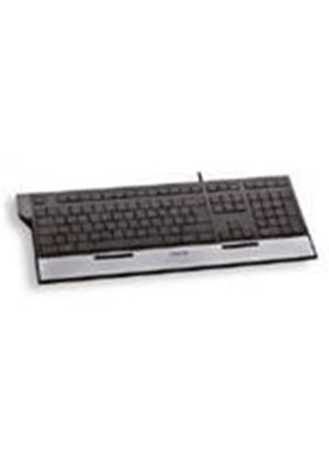 Cherry EASYHUB JK-0100 Corded Multimedia Keyboard with Built-in USB Connection (Silver/Black)