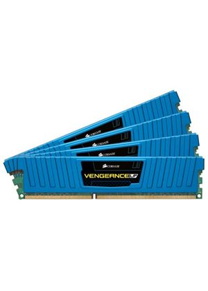 Corsair Vengeance 16GB (4x240) Memory Kit PC3-12800 1600MHZ DDR3 DIMM Unbuffered (Blue)