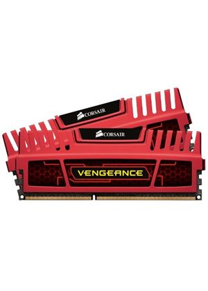Corsair Vengeance 8GB Memory Kit (2x4GB) PC3-12800 1600MHz DDR3 DIMM (Red)