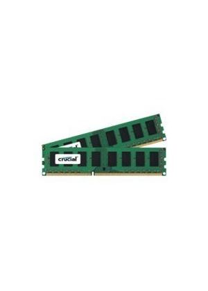 Crucial 2GB Memory Kit (2x1GB) PC3-10600 1333MHz DDR3 Unbuffered Non-ECC CL9 240-pin DIMM for Elite Group (ECS) P43T-AD3 (1.0) Motherboard