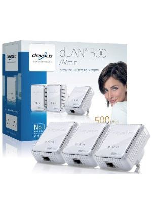 Develo dLAN 500 AVmini Network Kit (3 x HomePlugs) - UK