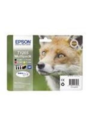 Epson T1285 4 Colour Multipack Ink Cartridges Black, Cyan, Magenta, Yellow (RF Tag) for BX305F/S22/SX125/SX420W/SX425W