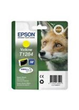 Epson T1284 Yellow Ink Cartridge (Retail Packed, Untagged) for BX305F/S22/SX125/SX420W/SX425W