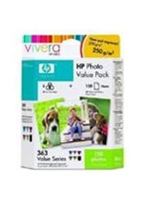 HP No.363 Series Photo Value Pack with six Ink Cartridges + 150 Sheets HP Photo Paper (10x15cm) Blister pack