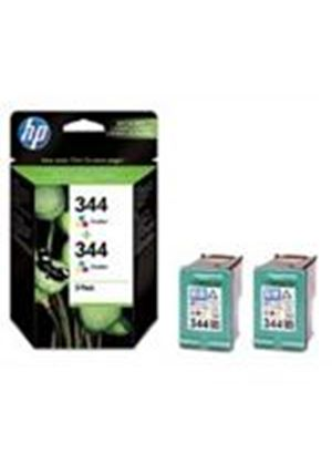 HP No.344 Tri-Colour (Yield 1160 Pages) Print Cartridge (2 Pack) Blister
