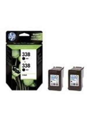HP No.338 Black Inkjet Print Cartridge (Twin Pack) with Vivera Ink Blister