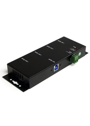 StarTech Mountable 4 Port Rugged Industrial SuperSpeed USB 3.0 Hub (Black)