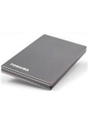 Toshiba Stor.E Stainless Steel 2.5 inch 1000GB USB Hard Drive External (Titanium)