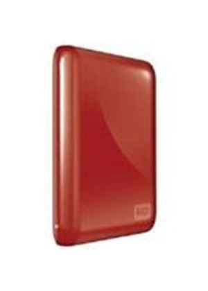 Western Digital My Passport Essential 500GB Ultra-Portable Hard Drive USB 3.0 External (Real Red)