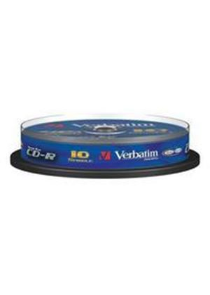 Verbatim CD-R 700MB 80 Minute 48x DataLife Plus Crystal Super AZO Spindle 10 Pack