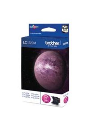 Brother LC1220M Magenta (Yield 300 Pages) Ink Cartridge for Brother DCP-J525W / DCP-J725DW / DCP-J925DW / MFC-J280W / MFC-J430W / MFC-J625DW / MFC-J825DW