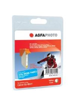 AgfaPhoto APCCLI521Y Canon CLI-521Y Compatible Yellow Ink Cartridge