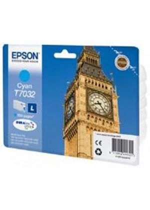 Epson T7032 (Yield 800 Pages) Cyan Standard Capacity Ink Cartridge for Epson Workforce Pro 4000 Series