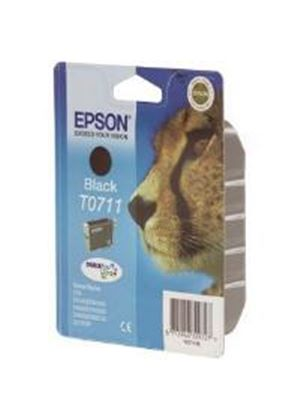 Epson T0711 Black Ink Cartridge (Yield 240 Pages)