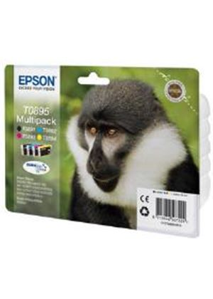 Epson T0895 4 Colour Multipack Ink Cartridges Black, Cyan, Magenta, Yellow for Stylus Office BX300F/S20/S21/SX100/SX105/SX115/SX205/SX215/SX218/SX400/SX415