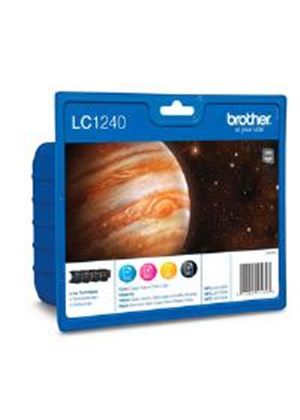 Brother LC1240 Value Blister Pack Ink Cartridge Pack - Full Set (Black/Cyan/Magenta/Yellow)