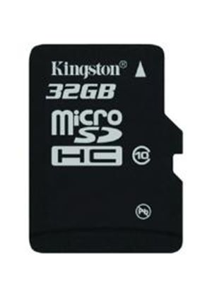 Kingston MicroSDHC 32GB Card (Class 10) Single Pack without Adapter