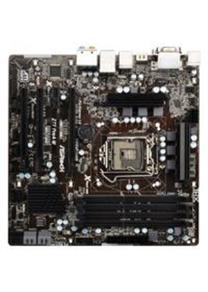 ASRock Z77 Pro4-M Motherboard i7/ i5/ i3 Socket 1155 Z77 mATX Gigabit LAN (Intel HD Graphics)