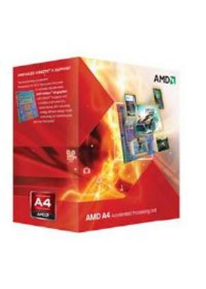 AMD A4 Series Dual Core (A4-3400) 2.7GHz Accelerated Processor Unit (ACU) 1MB with Radeon HD 6410D Graphic Card