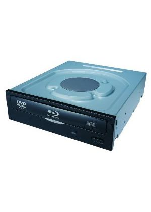 LiteOn iHOS104 4X Blu-Ray BDROM/RE/RDL/REDL SATA Drive (Internal) with a Black Bezel
