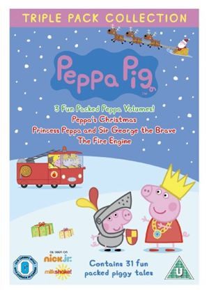 Peppa Pig - Triple Pack - Princess Peppa / Fire Engine / Peppa's Christmas