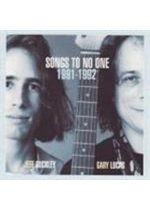 Jeff Buckley - Songs To No One 1991 - 92 (Music CD)