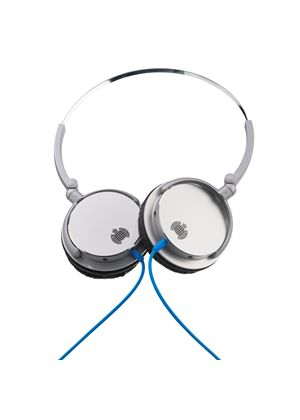 Ministry of Sound 005 Headphones - Silver/Black with Blue Cable