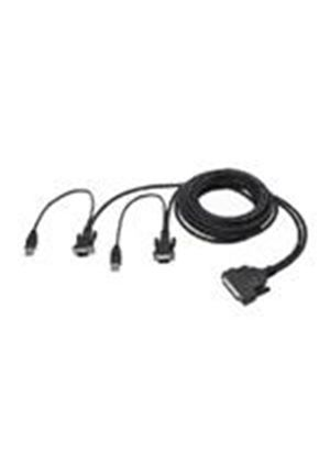 Belkin OmniView ENTERPRISE Series - Keyboard / video / mouse (KVM) cable - 4 pin USB Type A, HD-15 (M) - HD-50 (M) - 1.8 m