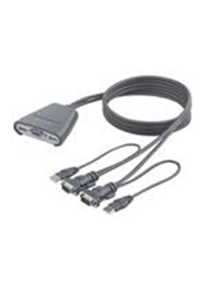 Belkin 2-Port KVM Switch with Built-In Cabling - KVM switch - 2 ports - 1 local user