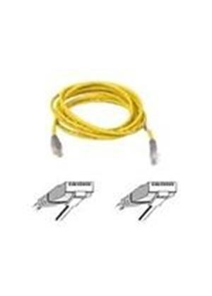Belkin - Crossover cable - RJ-45 (M) - RJ-45 (M) - 3 m - UTP - ( CAT 5e ) - yellow
