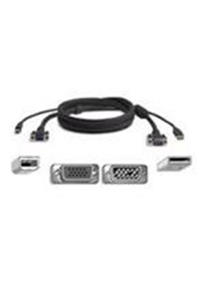 Belkin OmniView All-In-One Pro Series Plus - Video / USB cable - HD-15, 4 pin USB Type B (M) - 4 pin USB Type A, HD-15 - 3 m