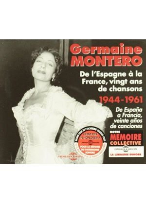 Germaine Montero - De l'Espagne à la France 1944-1961 (Music CD)