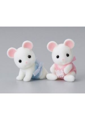 Sylvanian Families - White Mouse Twin Babies
