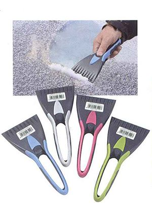 Windscreen Ice Scraper with Soft Grip (W120) Colours may vary
