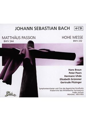 Johann Sebastian Bach - Matthew Passion, Mass In B Minor (Jochum)