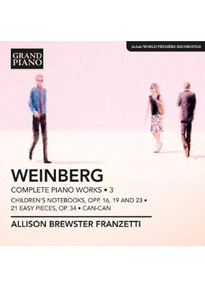 Mieczyslaw Weinberg: Complete Piano Works, Vol. 3 (Music CD)