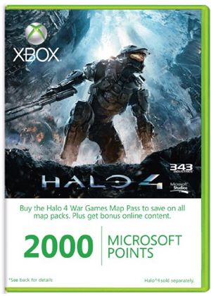 Xbox Live 2000 Microsoft Points - Halo 4 - Season Pass (Xbox 360) (Game not included)
