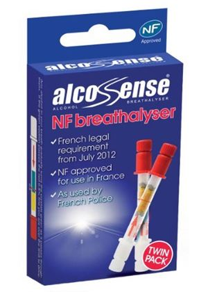 French NF Legal Requirement Approved Breathalyser (Twin Pack)