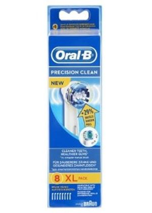 Oral-B EB20-8 Precision Clean Replacement Rechargeable Toothbrush Heads 8-Pack