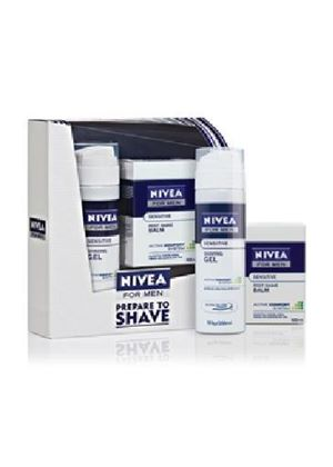 Nivea For Men Sensitive Shave Kit (Shaving Gel 200ml + Post Shave Balm 100ml)